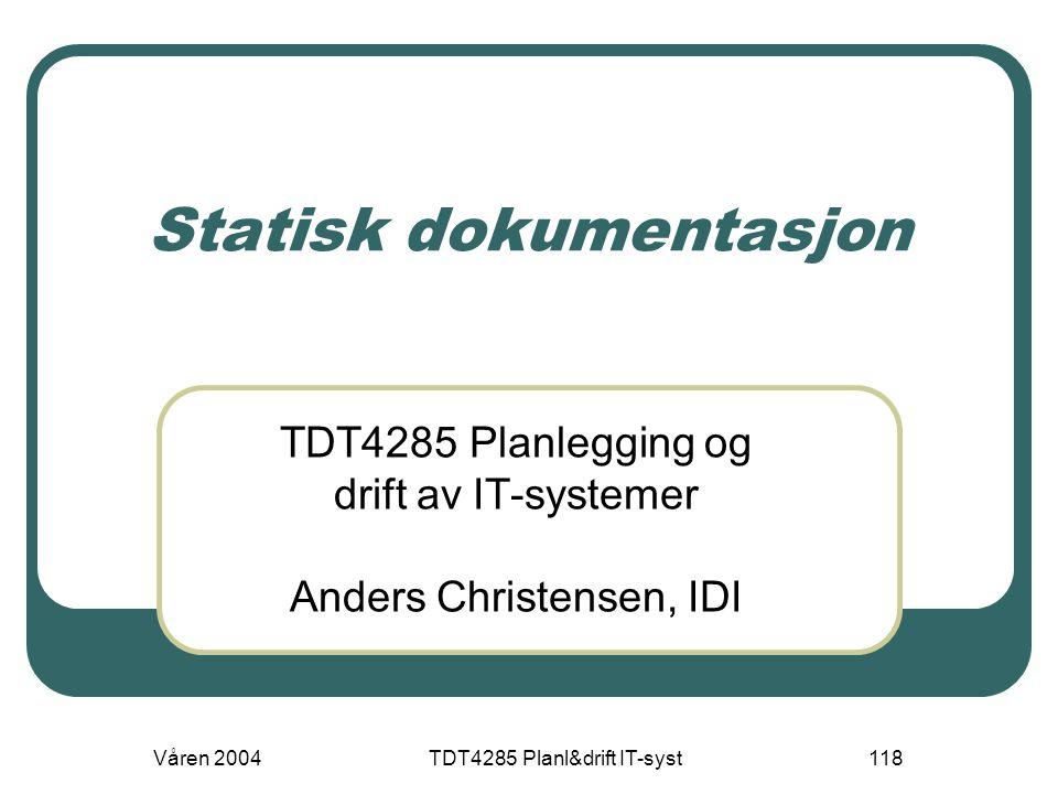 Statisk dokumentasjon