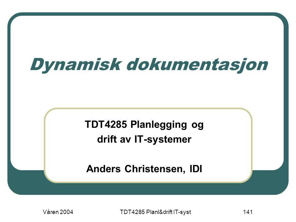 Dynamisk dokumentasjon