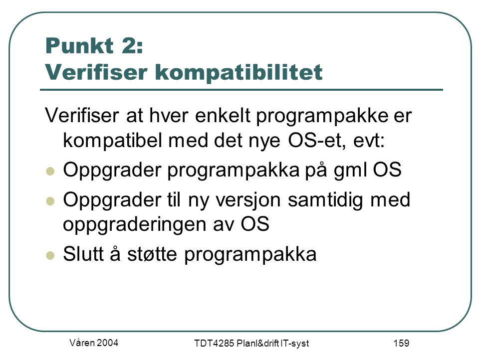 Punkt 2: Verifiser kompatibilitet