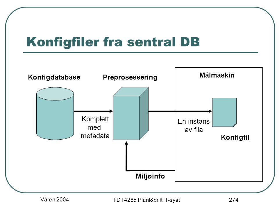 Konfigfiler fra sentral DB