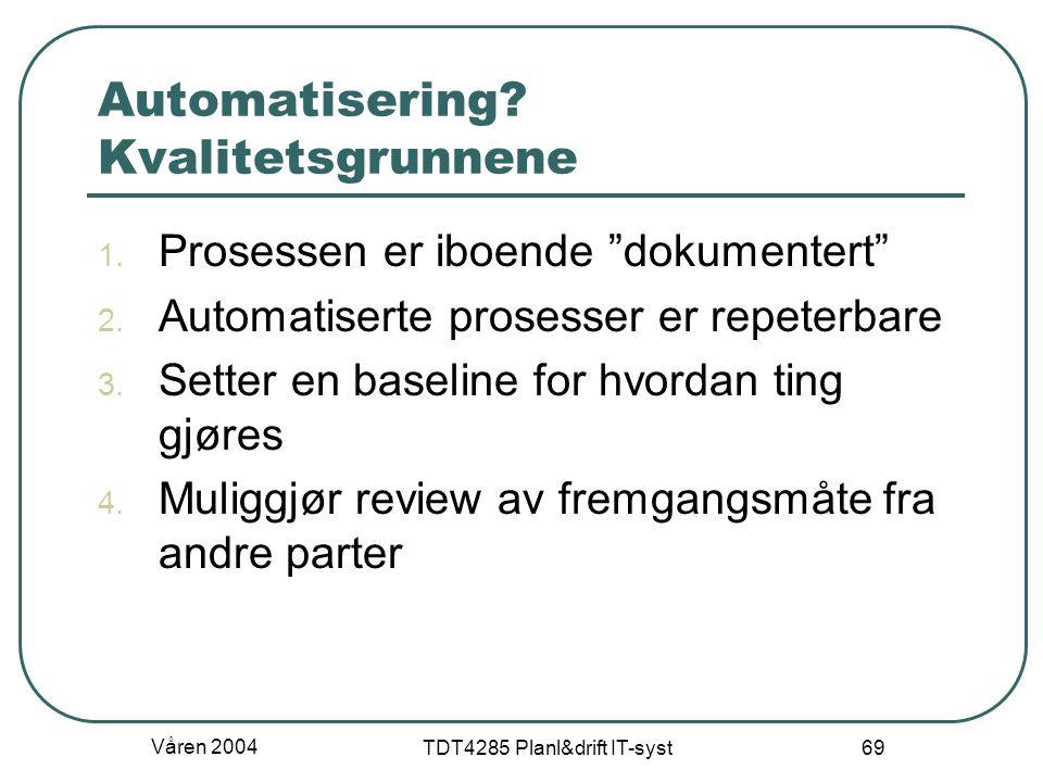 Automatisering Kvalitetsgrunnene