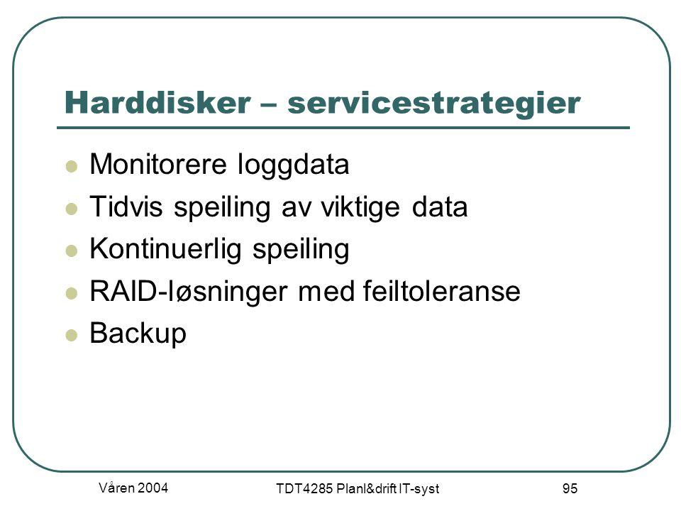 Harddisker – servicestrategier