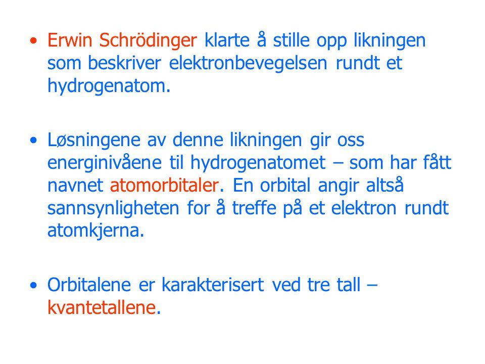 Erwin Schrödinger klarte å stille opp likningen som beskriver elektronbevegelsen rundt et hydrogenatom.