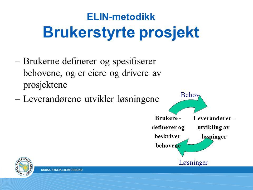 ELIN-metodikk Brukerstyrte prosjekt