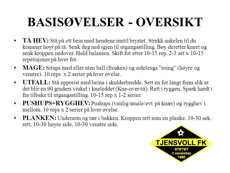 BASISØVELSER - OVERSIKT