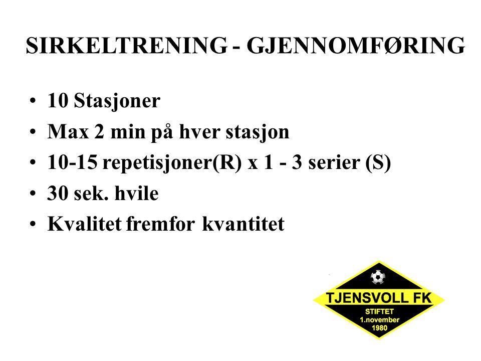 SIRKELTRENING - GJENNOMFØRING