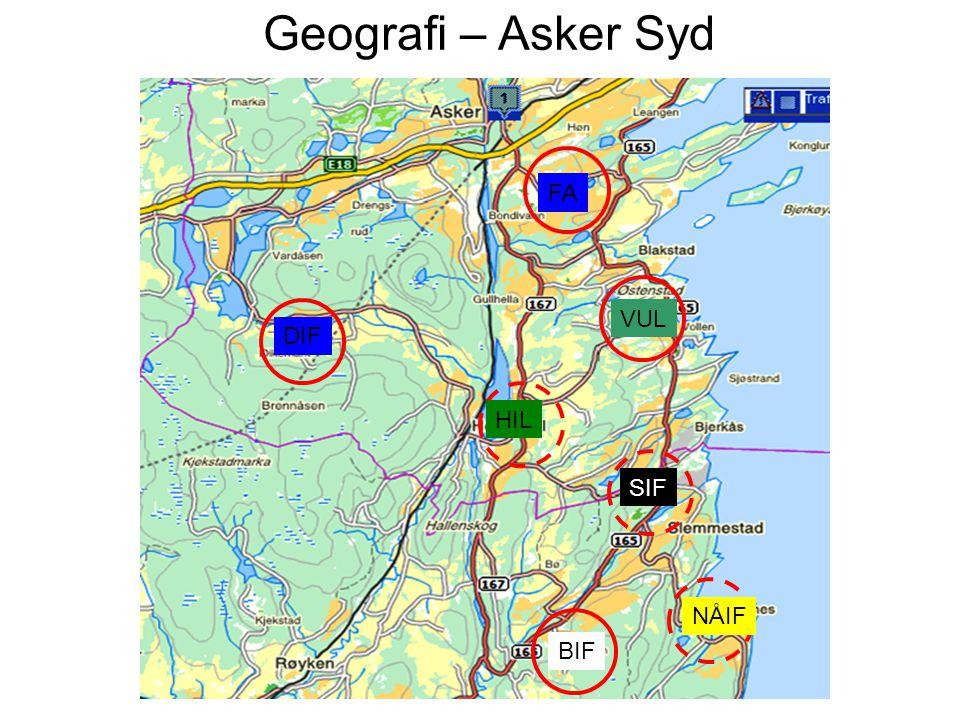Geografi – Asker Syd FA VUL DIF HIL SIF NÅIF BIF