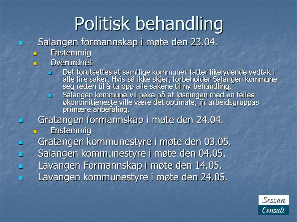 Politisk behandling Salangen formannskap i møte den 23.04.