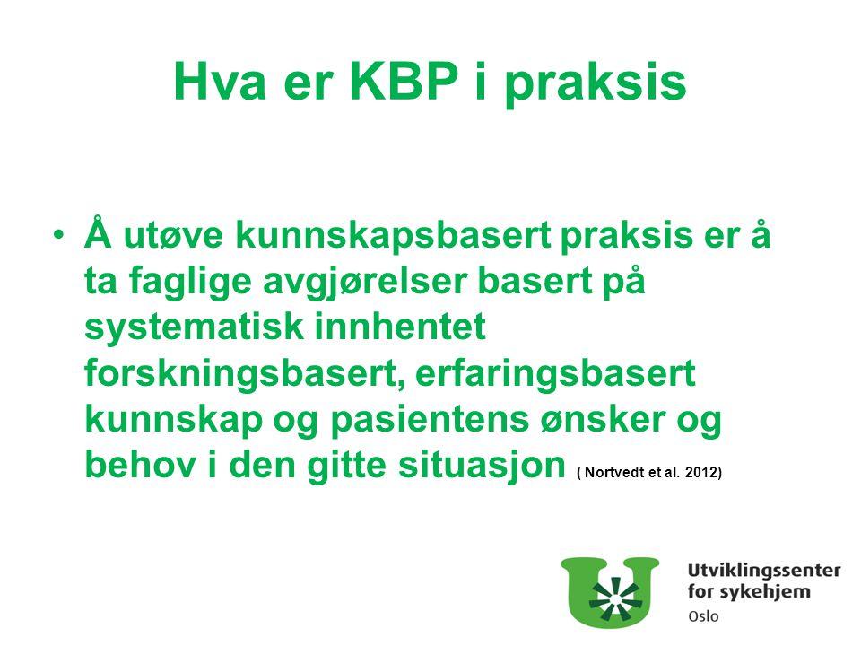 Hva er KBP i praksis