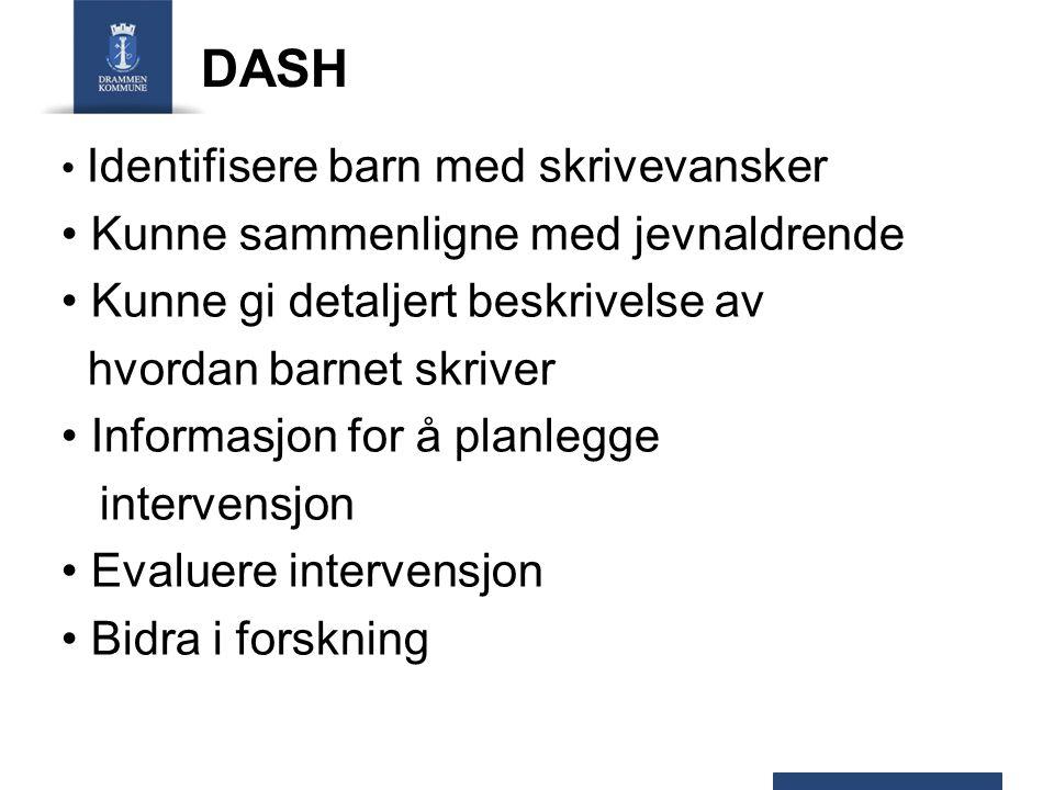 DASH Kunne sammenligne med jevnaldrende