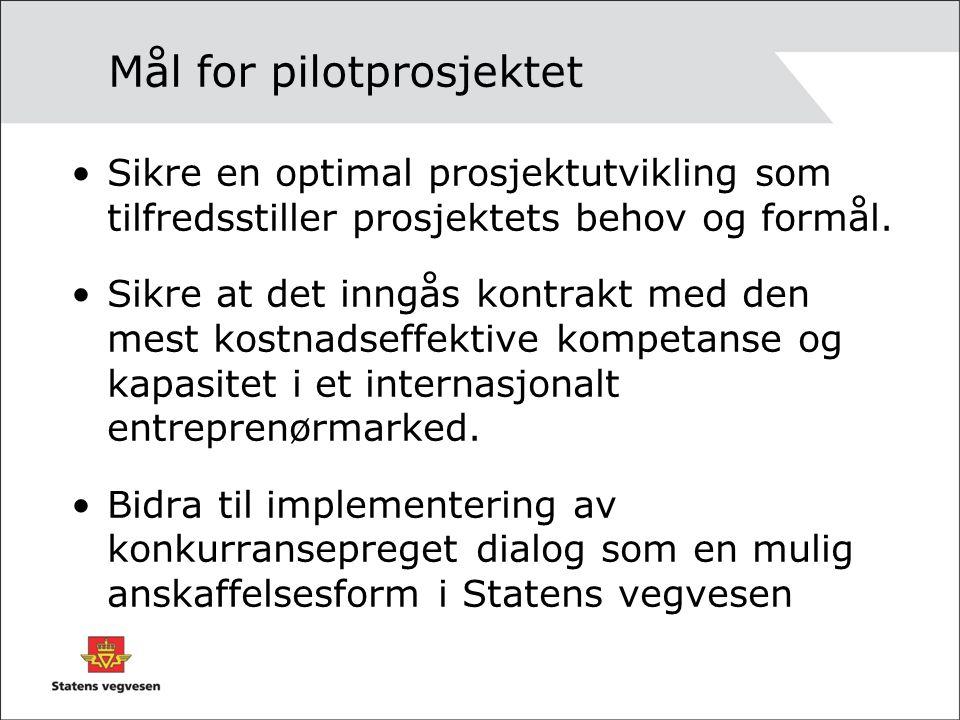 Mål for pilotprosjektet