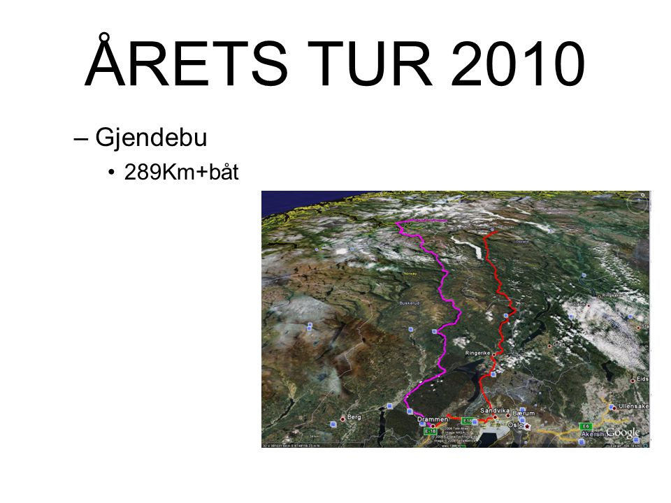 ÅRETS TUR 2010 Gjendebu 289Km+båt