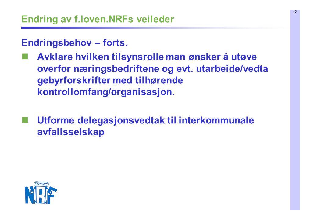 Endring av f.loven.NRFs veileder