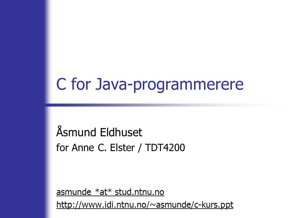 C for Java-programmerere