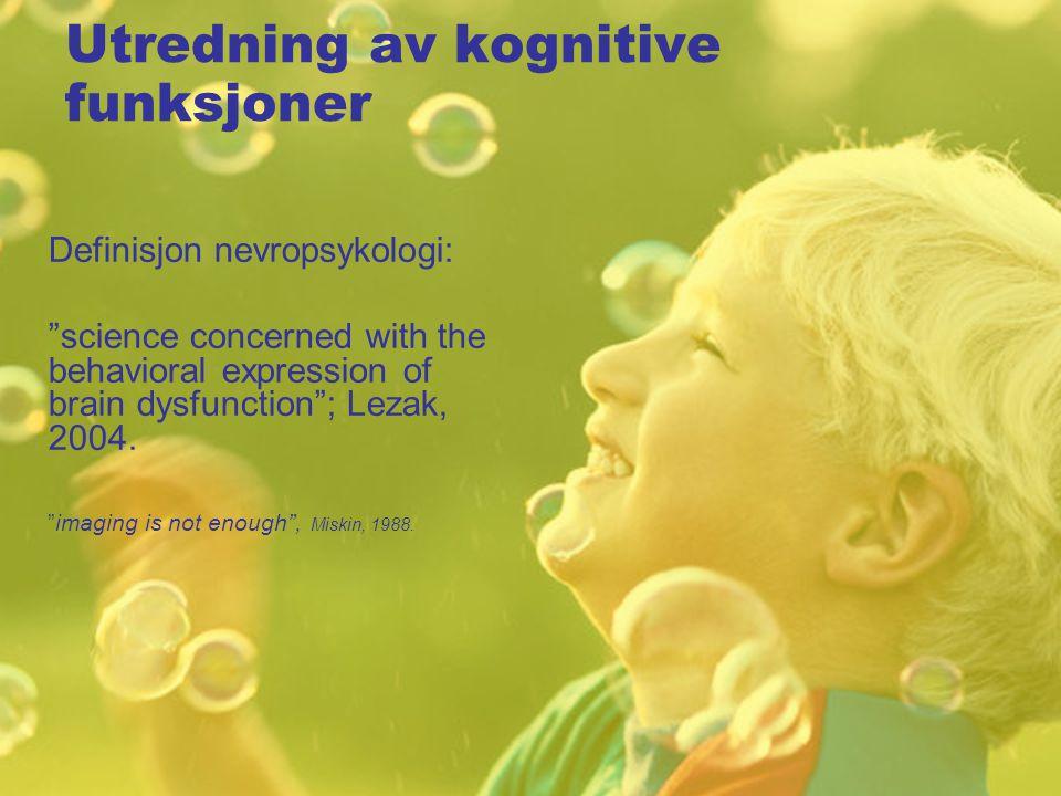 Utredning av kognitive funksjoner