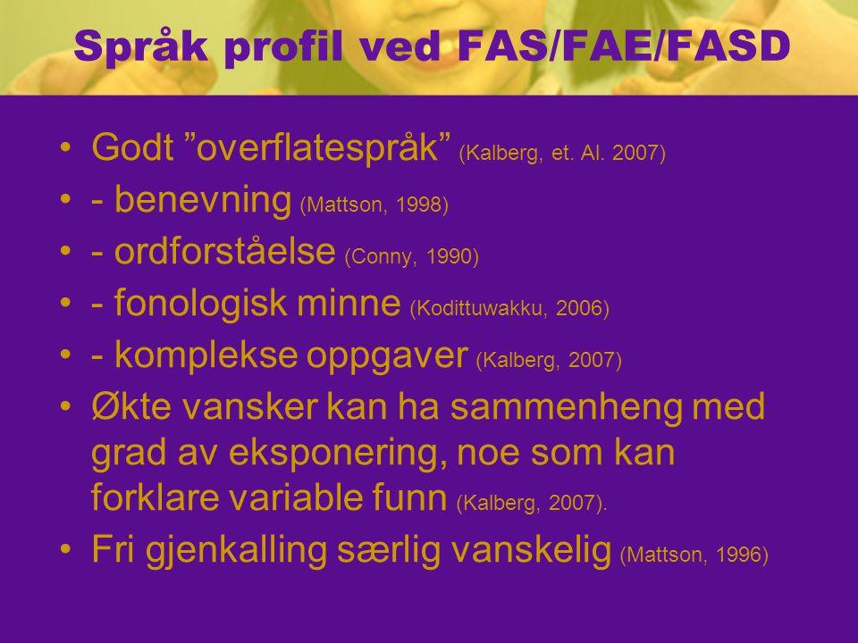 Språk profil ved FAS/FAE/FASD