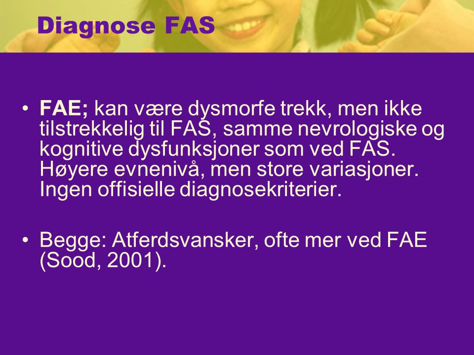 Diagnose FAS