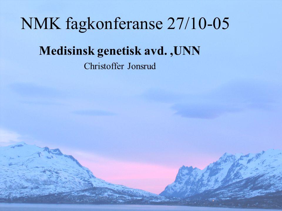 Medisinsk genetisk avd. ,UNN Christoffer Jonsrud