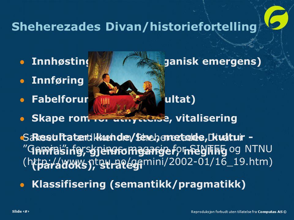 Sheherezades Divan/historiefortelling