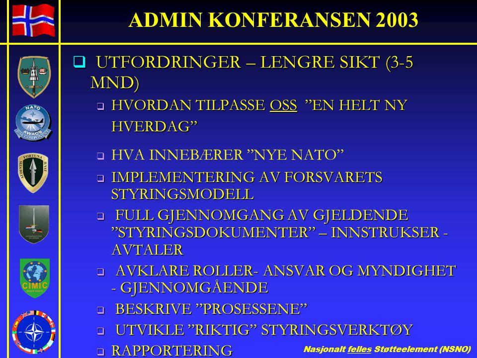 UTFORDRINGER – LENGRE SIKT (3-5 MND)