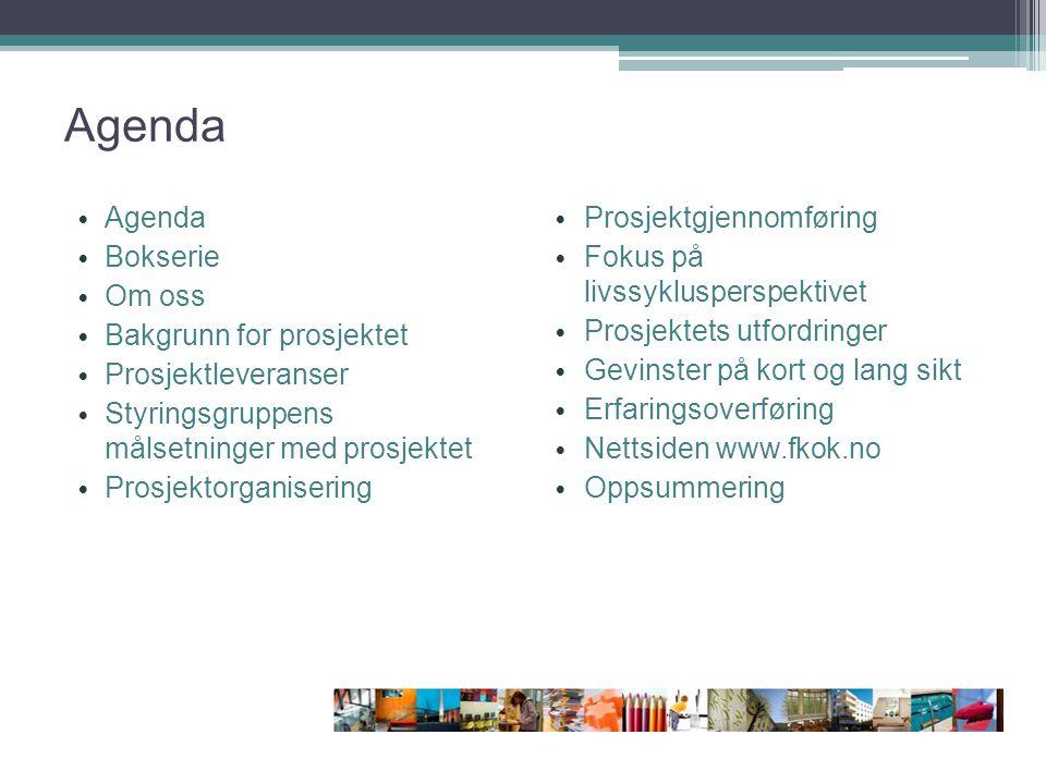 Agenda Agenda Bokserie Om oss Bakgrunn for prosjektet