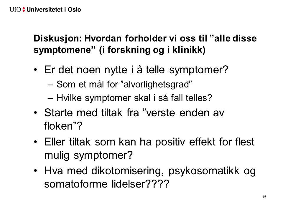 Isjiasundersøkelsen – fra norske ryggpoliklinikker