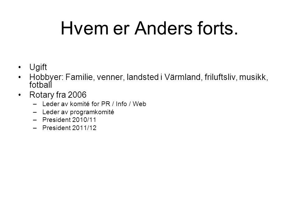Hvem er Anders forts. Ugift