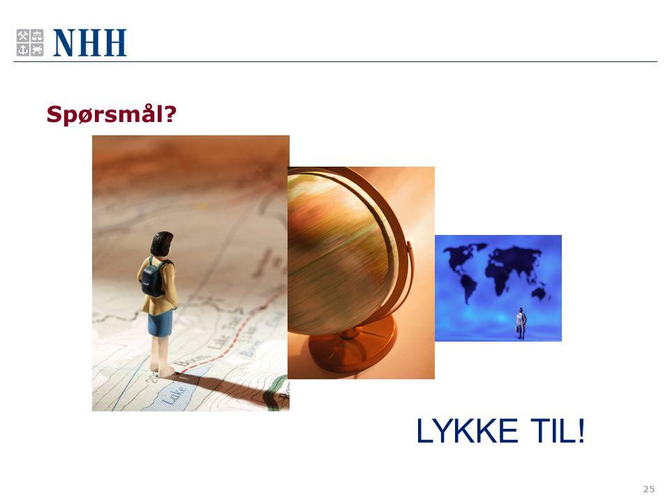 Spørsmål LYKKE TIL!