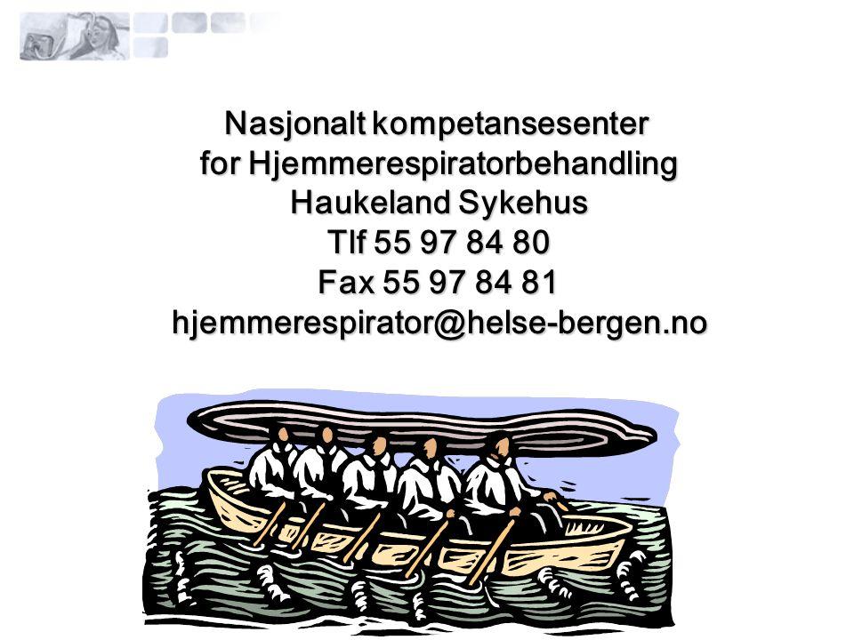 Nasjonalt kompetansesenter for Hjemmerespiratorbehandling