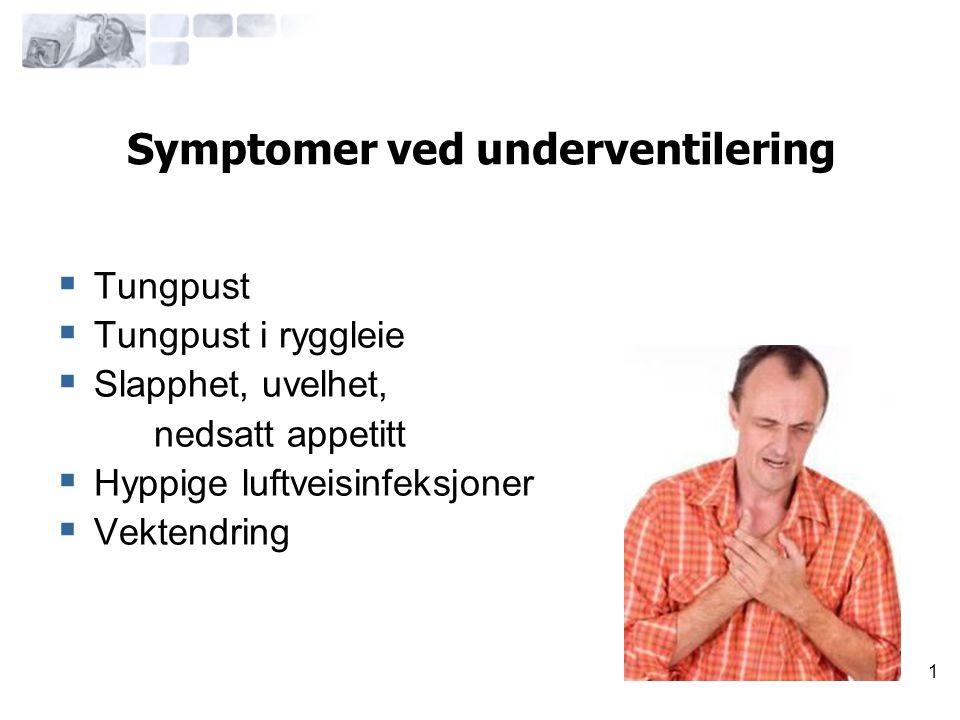 Symptomer ved underventilering