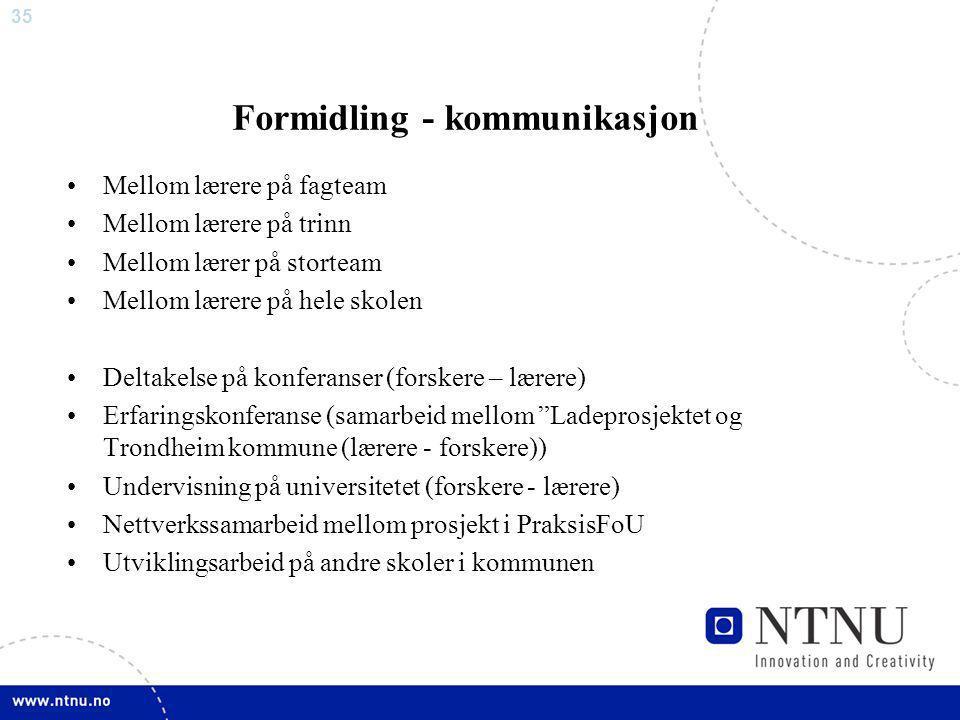 Formidling - kommunikasjon