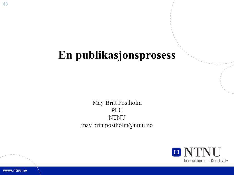 En publikasjonsprosess