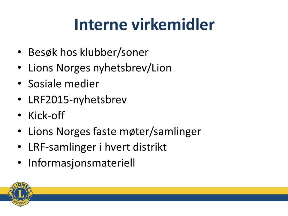 Interne virkemidler Besøk hos klubber/soner