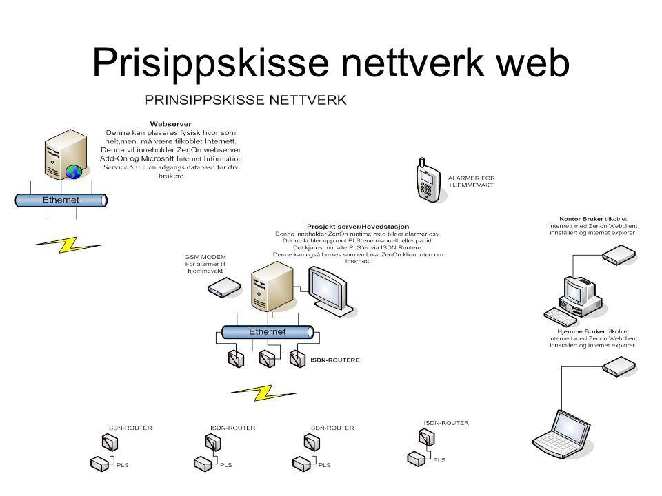 Prisippskisse nettverk web