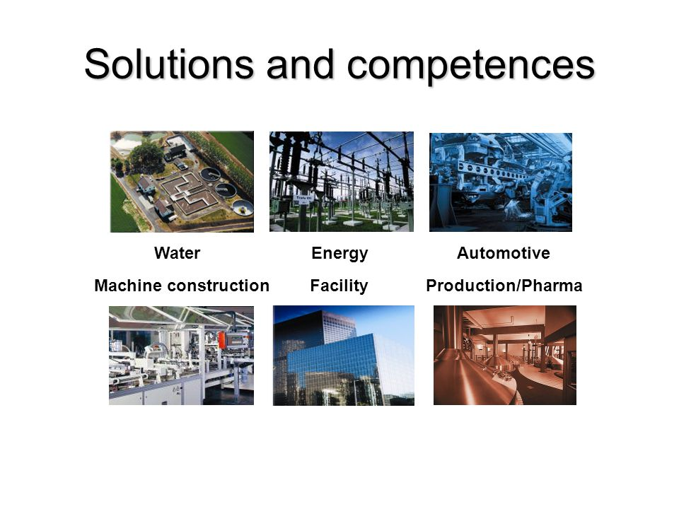 Solutions and competences