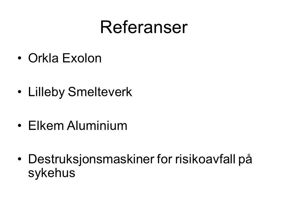 Referanser Orkla Exolon Lilleby Smelteverk Elkem Aluminium