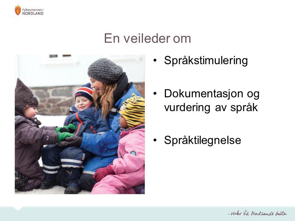 En veileder om Språkstimulering Dokumentasjon og vurdering av språk