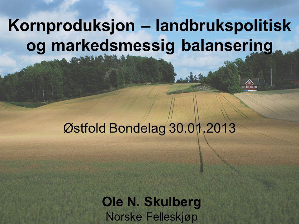 Kornproduksjon – landbrukspolitisk og markedsmessig balansering
