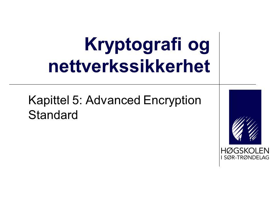 Kryptografi og nettverkssikkerhet