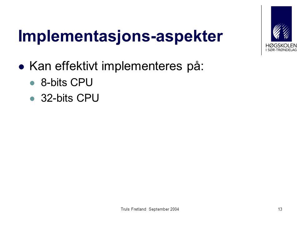 Implementasjons-aspekter