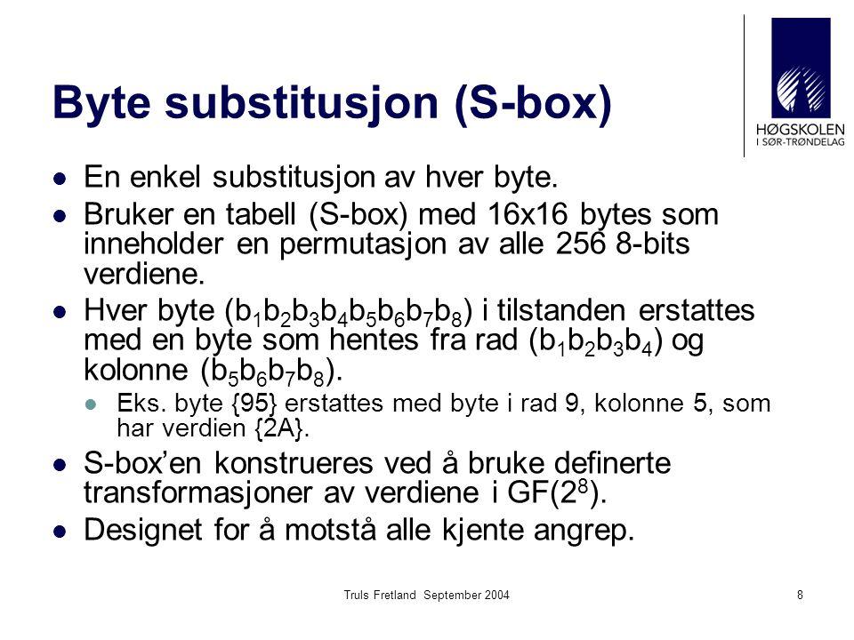 Byte substitusjon (S-box)