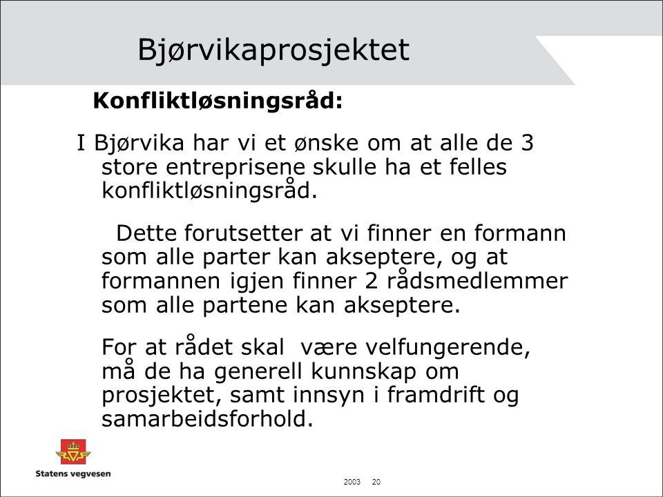 Bjørvikaprosjektet Konfliktløsningsråd: