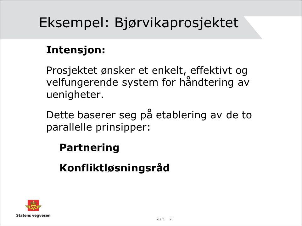 Eksempel: Bjørvikaprosjektet