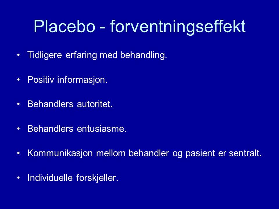 Placebo - forventningseffekt