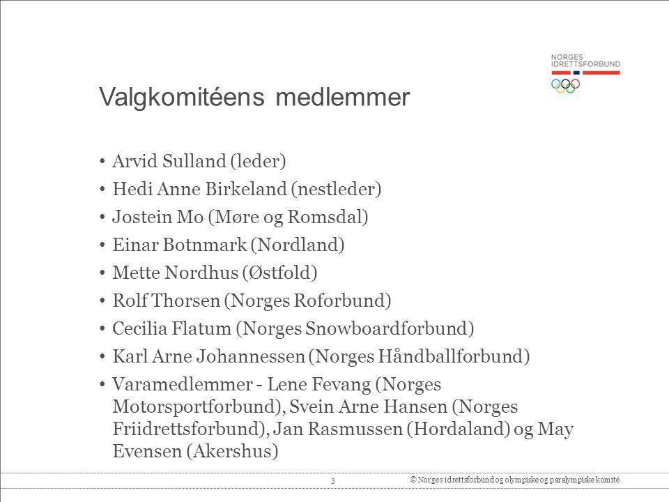 Valgkomitéens medlemmer