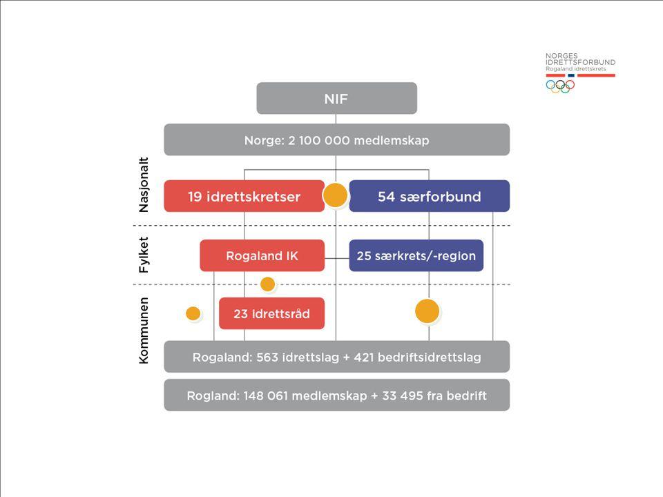 UTFORDRINGER Fjern de gule kulene hvis du vil forenkle::: Nasjonalt: Representasjon på idrettstinget.