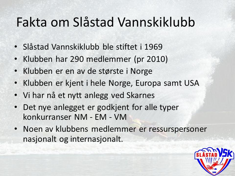 Fakta om Slåstad Vannskiklubb
