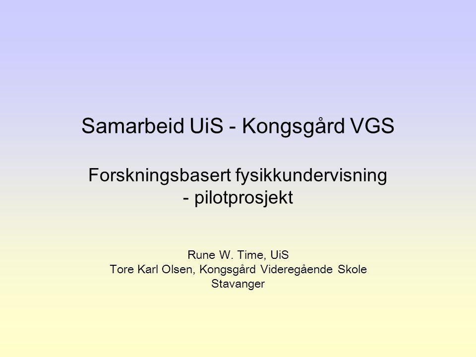 Tore Karl Olsen, Kongsgård Videregående Skole