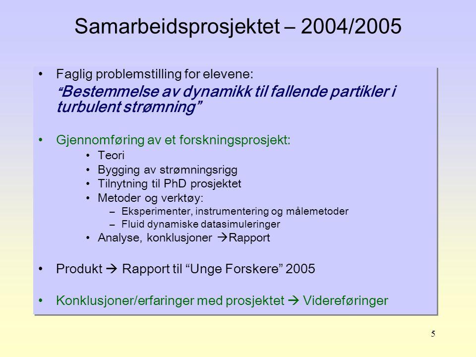 Samarbeidsprosjektet – 2004/2005