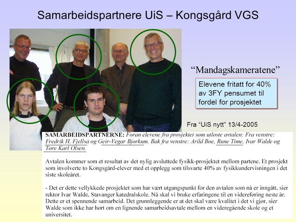 Samarbeidspartnere UiS – Kongsgård VGS